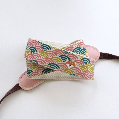 Cute Chiba camera strap - powder ripple