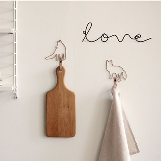 Dailylike letter shape wall hook -04 Love, E2D47906