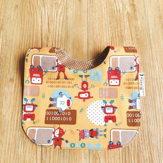 Double-sided bibs - red robot
