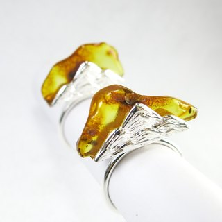 READ Dazzling Mountain Breath | Sterling Silver Ring Amber 925 Sterling Silver Handmade