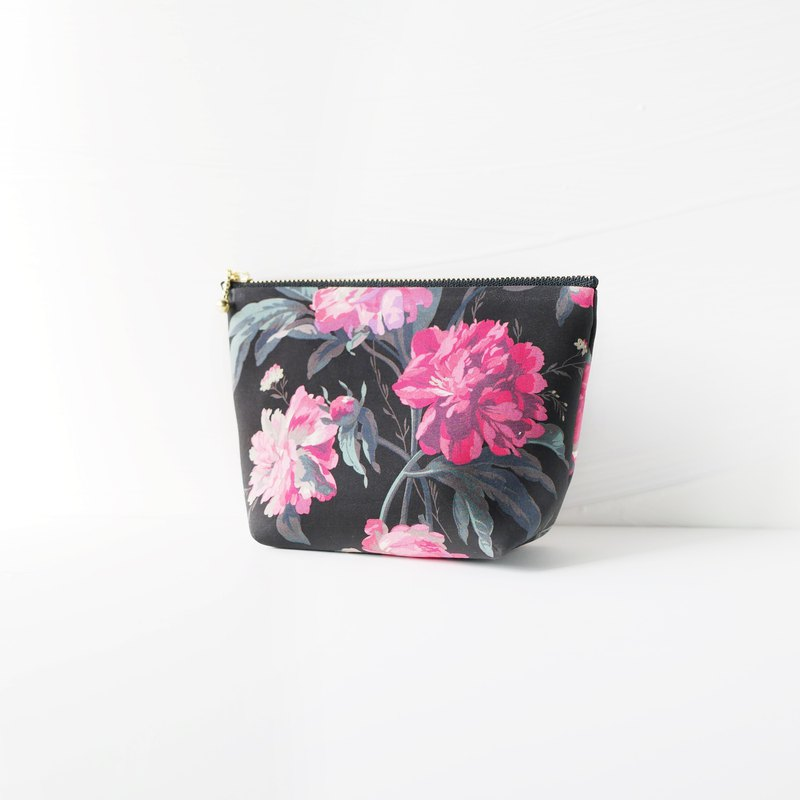Pouch Liberty print Decant ・ Blooms black S