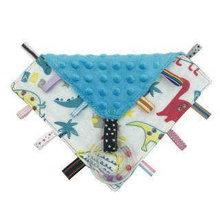 F19-handmade 2 in 1 handbell label appease towel can be used as pacifier chain Japanese double yarn X2 times = 4 layers