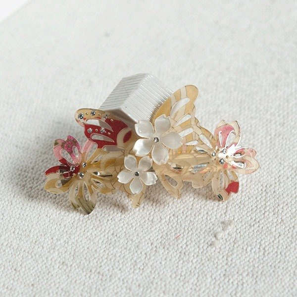 Qiu Qiufeng, butterfly automatic clip, hairpin - autumn yellow