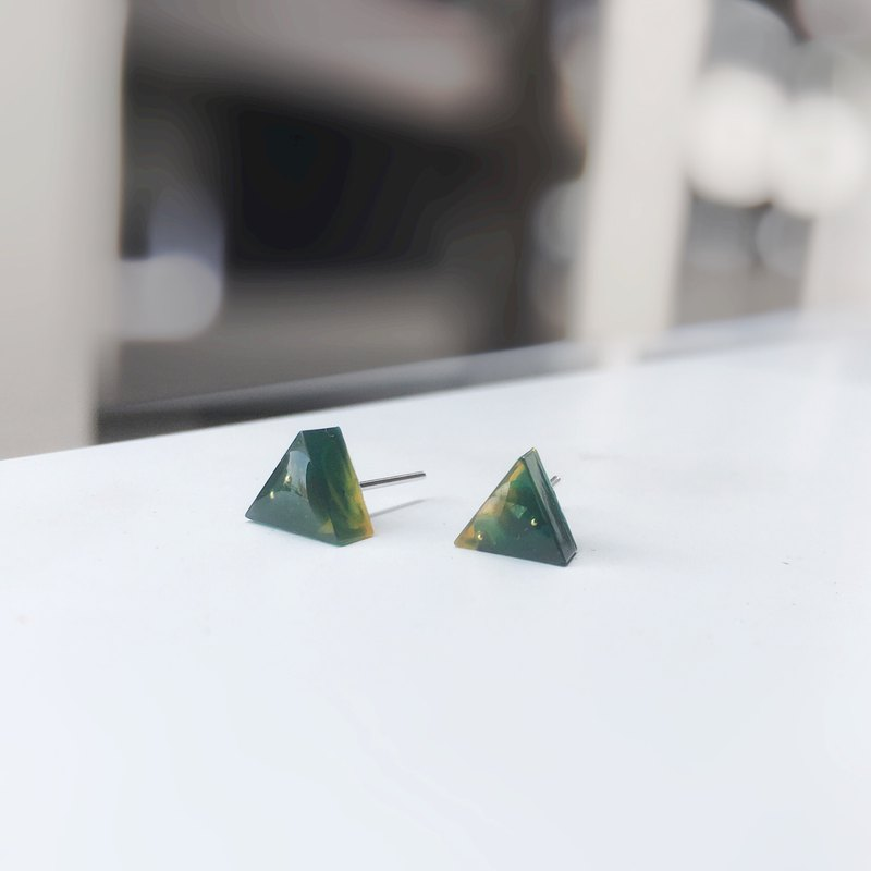 Triangle Series-Song Green 316L Medical Steel Needle Ear Gel Headphones