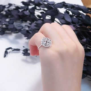 Customized window ring 925 Silver ring -ART64