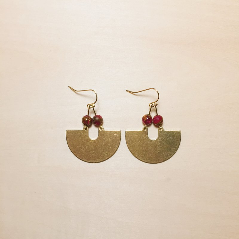 Vintage Cherry Big Fan Earrings