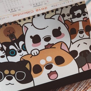 2018 meters dog daily table calendar / Shiba Inu