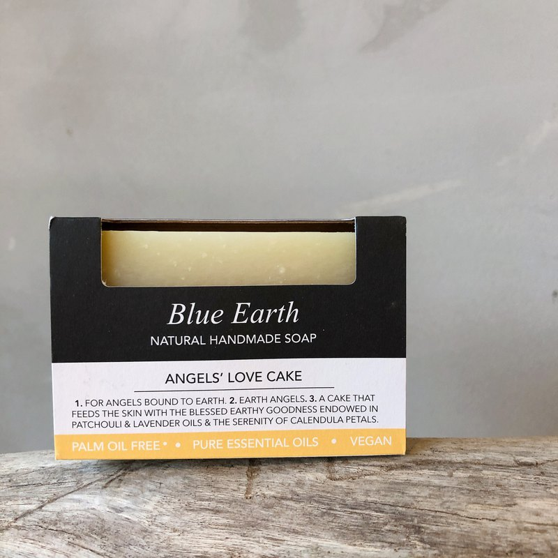 Patchouli and lavender essential oil skin care soap