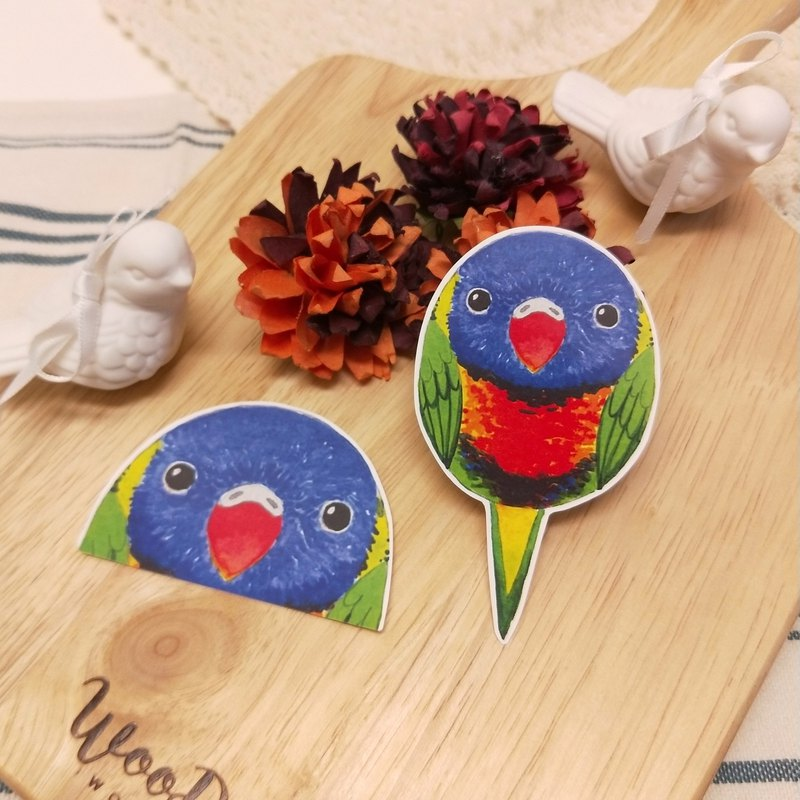 Rolia's hand made Australia Rainbow honey parrot waterproof stickers