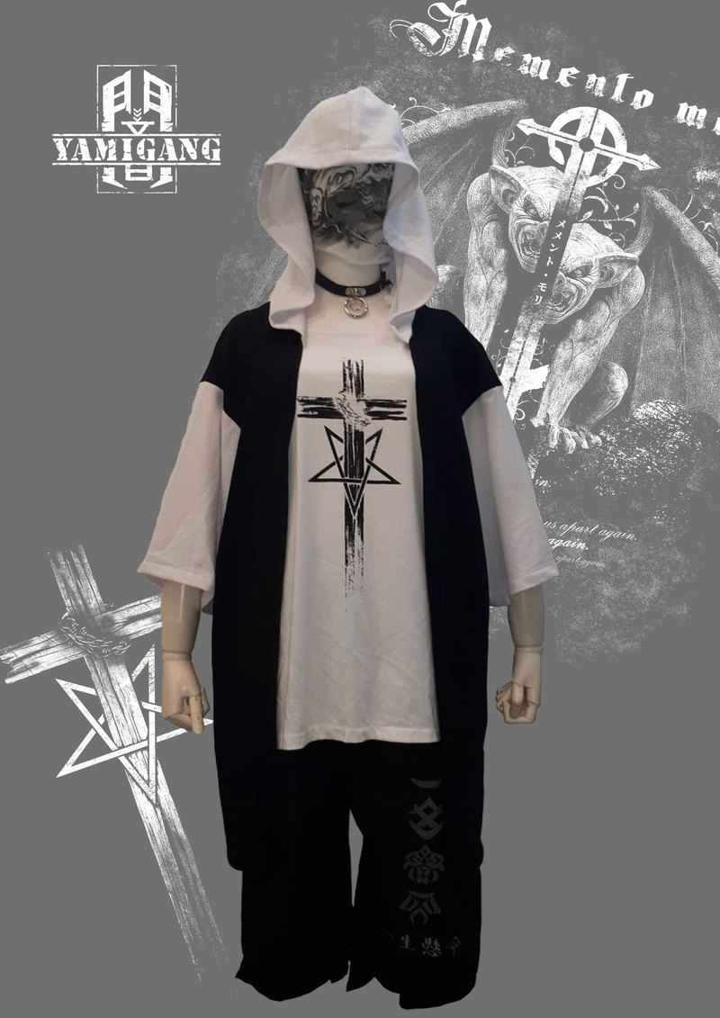 Exclusive limited BF dark Gothic style two-piece cap T-shirt