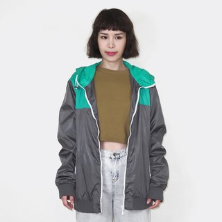 Gray-green hooded windproof vintage jacket BM3004