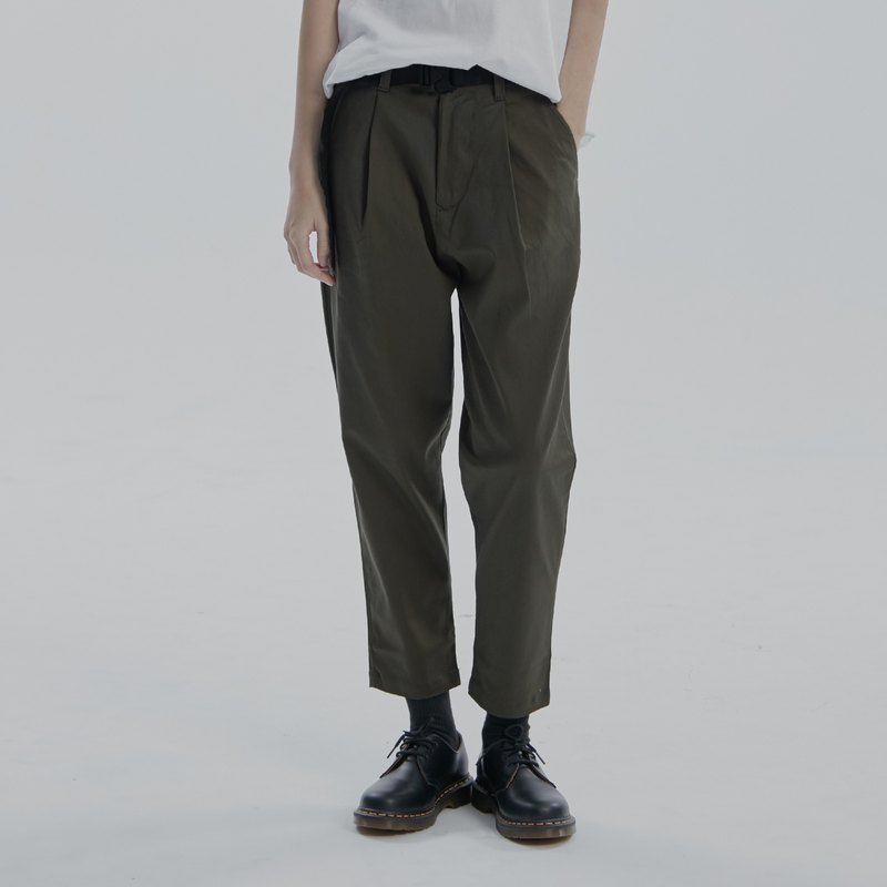 DYCTEAM - Wide Nine Taper Pants Ankle Length Pants (GN)