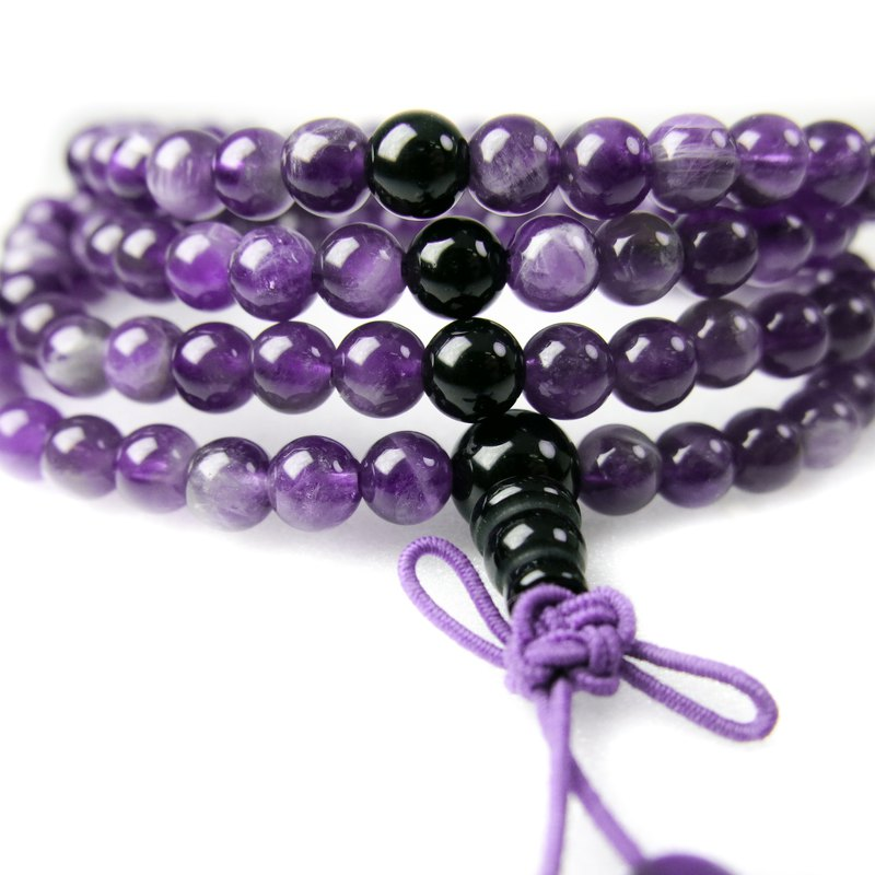 READ Dazzling 相相相惜 | Hand Made Amethyst Obsidian 108 Hand Beads