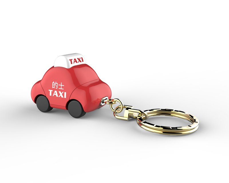 Cute Car Key Ring - Hong Kong Red Taxi (Christmas Gift)