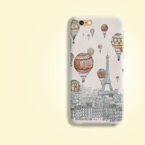 Balloon France Paris Effiel Tower Matt finishes rigid hard Phone Case Cover  for iPhone 4 4S 5 5S SE 6 6S 7 Plus Samsung Galaxy S6 S7 edge Note HTC LG Nexus HTGNP51