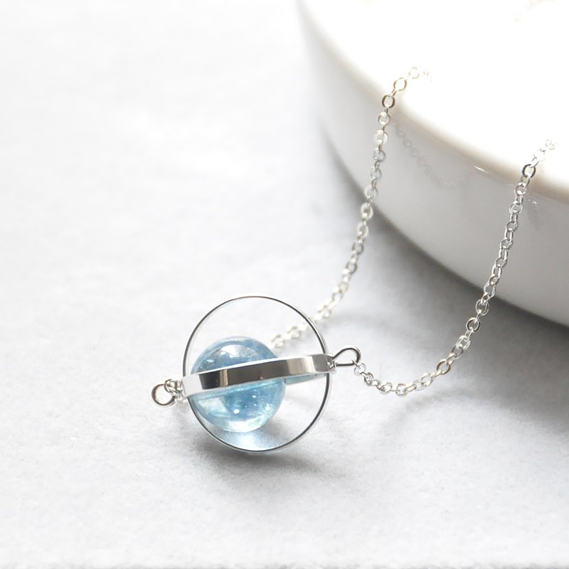 Blue planet. universe. Silver ring. blue crystal. Necklace Blue Blue Planet. Galaxy. Sliver Ring. Kyanite. Necklace. birthday present. Girlfriend gift. Sister gift