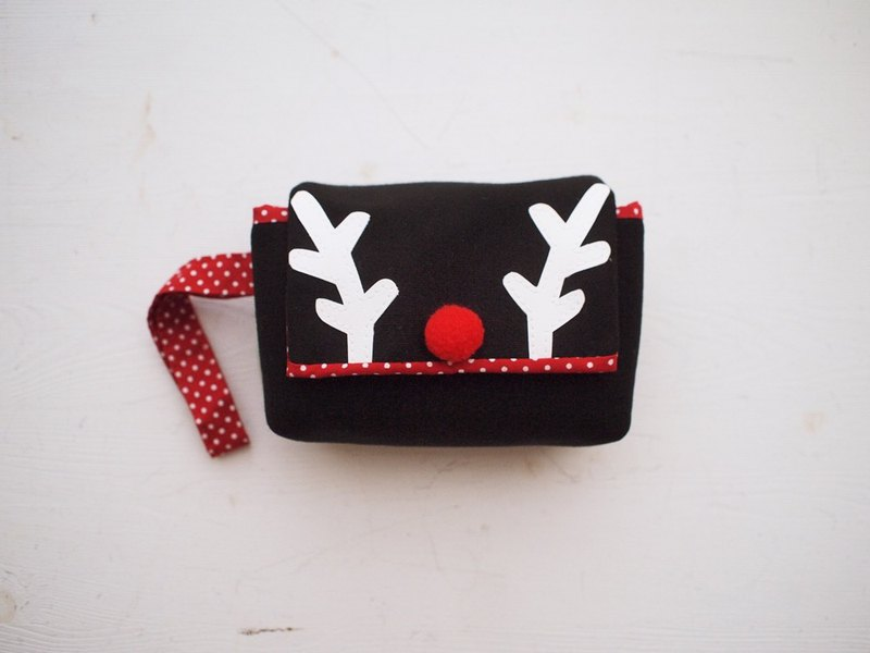 Hairmo. Big nose deer simple camera bag cloth side withdrawal - black (single eye / class monocular)