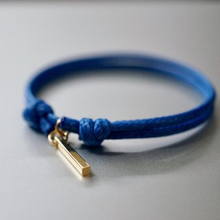 ITS-B812 [Minimal series, simple] a word wax rope bracelet.
