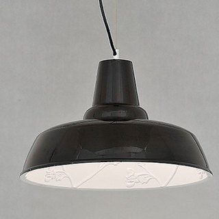 Country wind poly carved black lampshade
