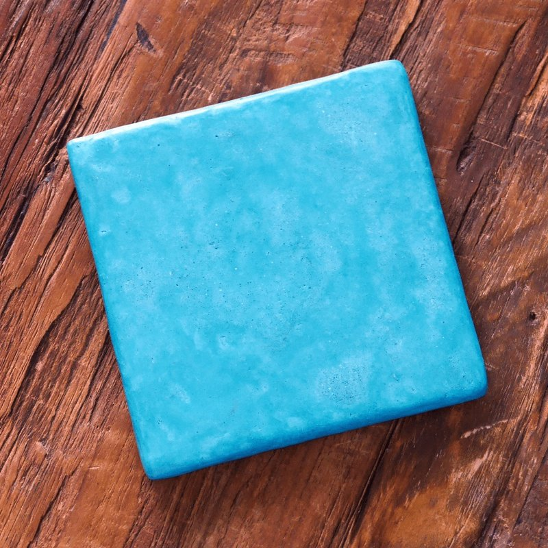 [Cold porcelain coasters] Turkish blue / handmade / natural materials