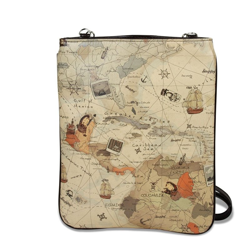 Designer  World Map Brown Cute Art Design Printed Apple Ipad  Bag Case Pouch / S