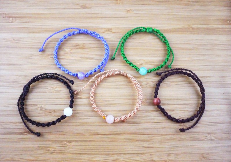 [Zhu Su] coarse silk wax line braided bracelet