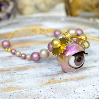 TIMBEE LO Symphony of pink gold ball ear beads necklace monster series Shell pearl plated gold necklace