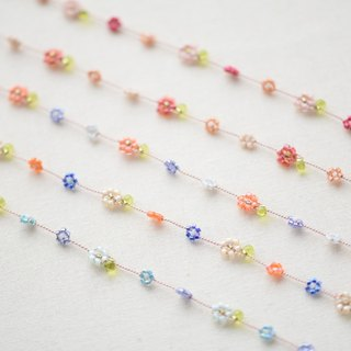 Five sets of the Daisy anklet【Pink, red , orange, light green, beige】