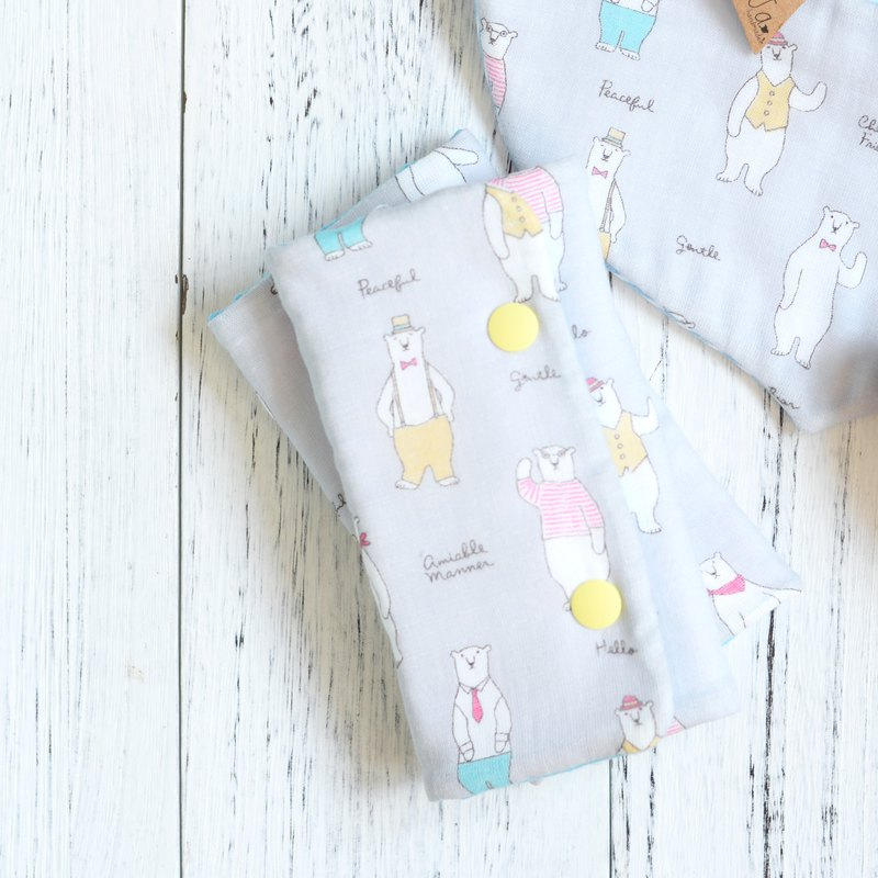 GENTLE BEAR  - HANDMADE BABIES STRAP COVER SET