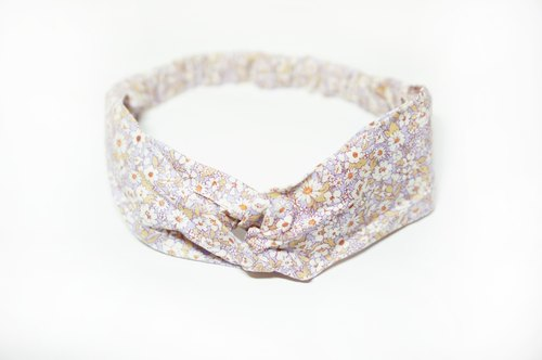 Purple small floral / hand loose hair band