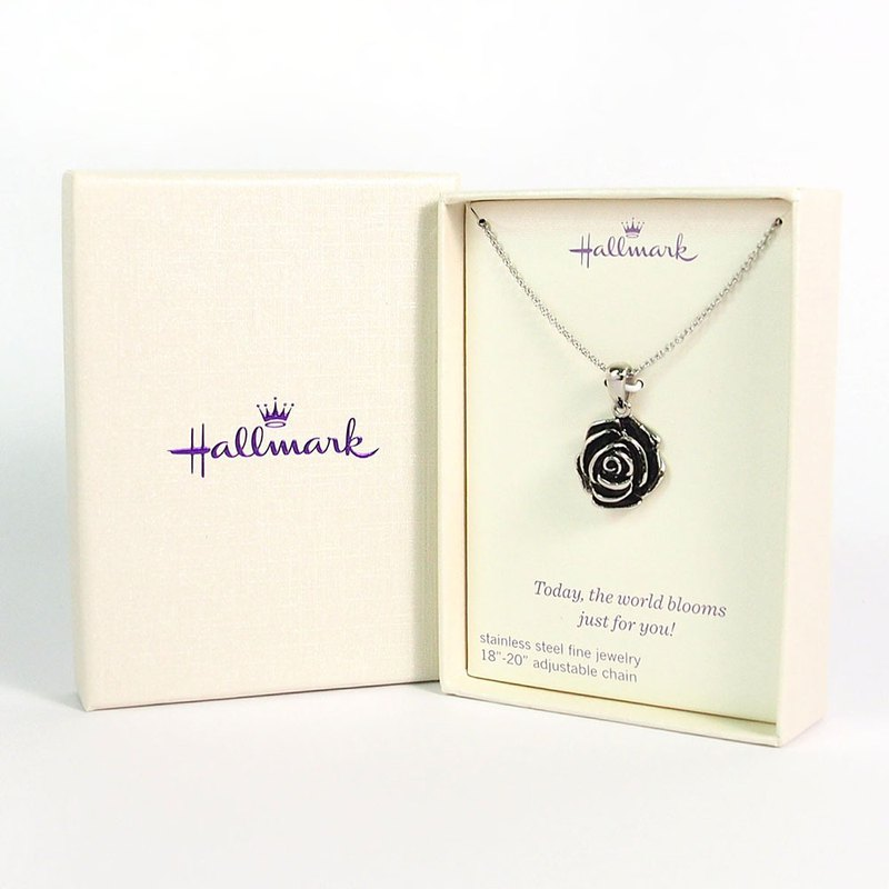Styling necklace, full bloom, rose [Hallmark-gift item]