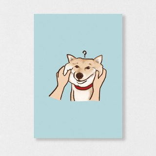 """Shiba Inu - pinched face"" fly Planet / Shiba Inu / wool kids / illustration postcards / Hands Bazaar"