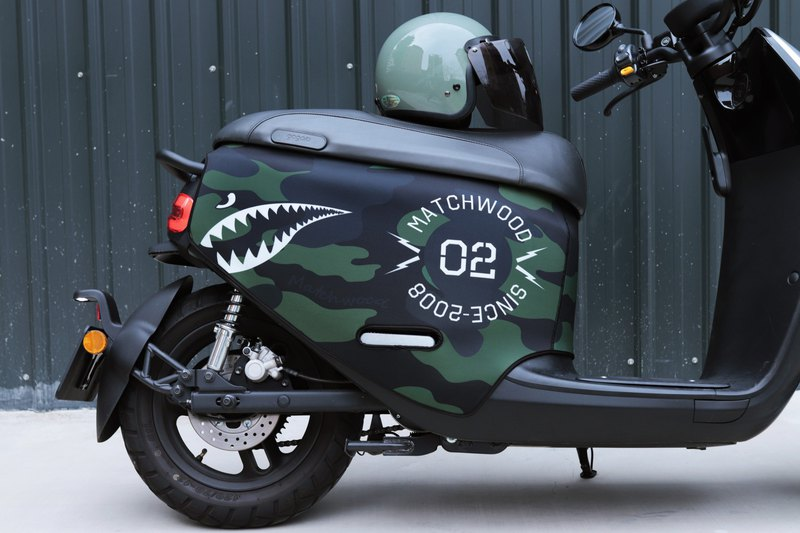Military style car cover gogoro 2 series scratch-resistant car cover Matchwood double-sided camouflage shark