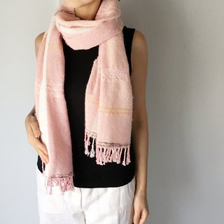 Unisex Scarf / Pink and White Mix - All season available -
