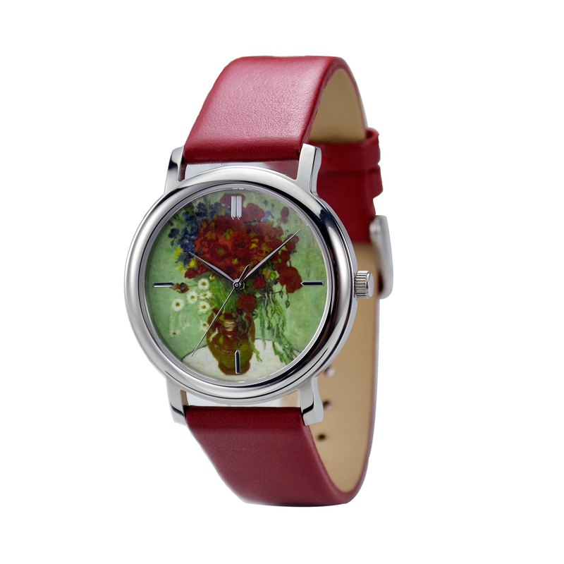 Famous Painting Watch (Vase With Daisies and Poppies)- Free shipping worldwide