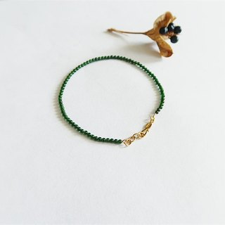 Natural stone・Bracelet Green sand 24K Gold【GZB1701】