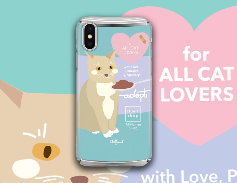 Meow cans cure system illustration phone shell fog matte matte