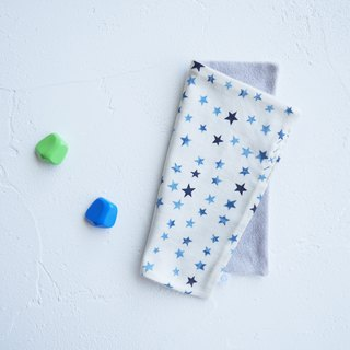Organic Cotton Embroidered Handkerchief Towel - Stars