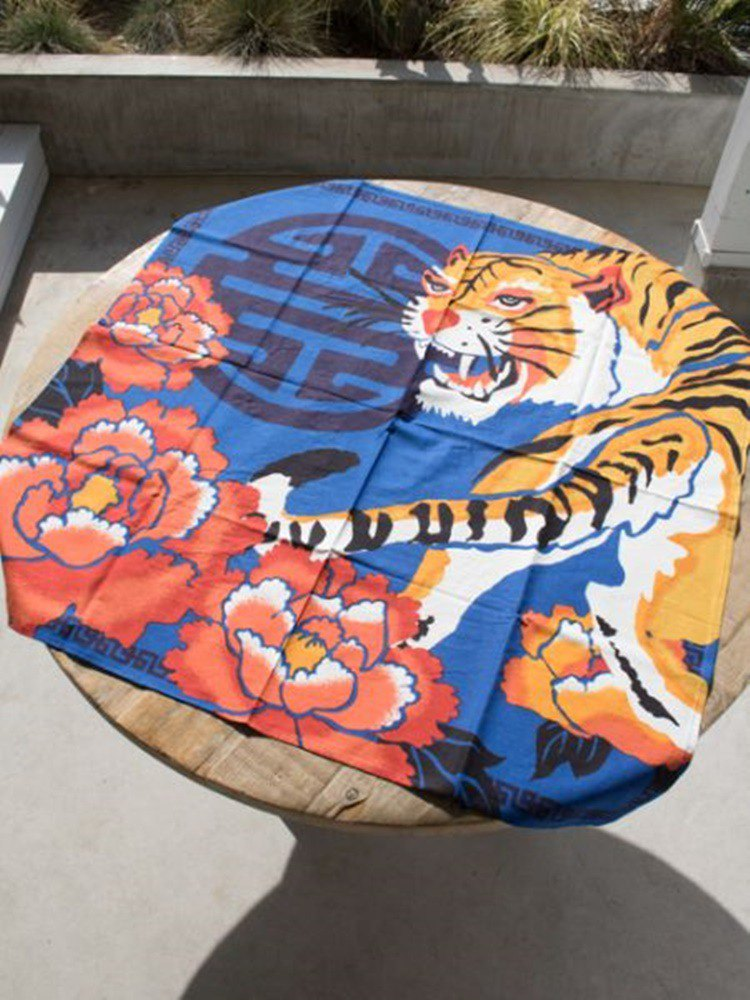 [Popular pre-order] Oriental Tiger Tablecloth (three colors) ISAP91A5