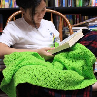 Handmade blankets green and hearty green