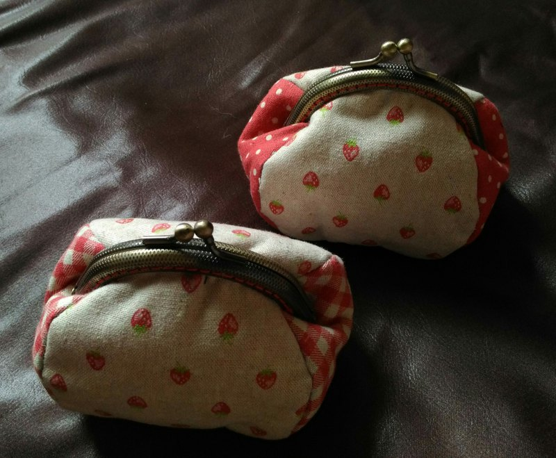 Hand-stitched gold bag*Wenzi hand made*Japanese cotton and linen*Three-dimensional cute*
