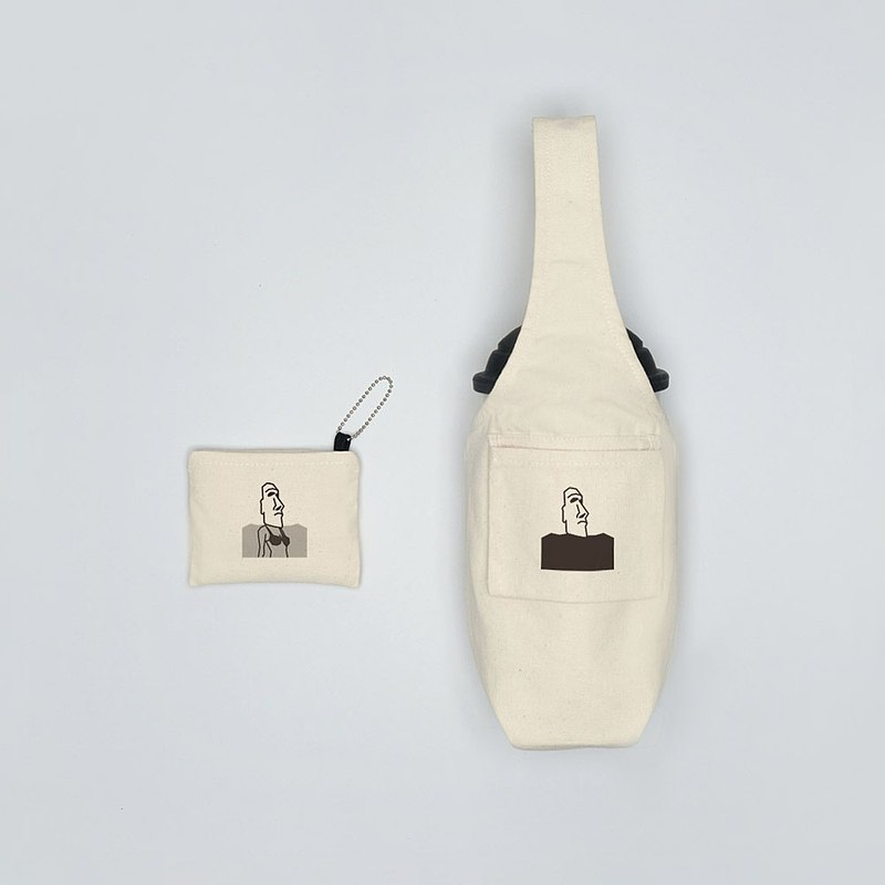 YCCT environmental protection beverage bag cover-Moai little witch-patent storage is not afraid to forget