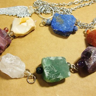 8 different head fall: white. purple. blue. green. yellow. Orange. red. Crystal + Festoon Shining diamond wing pendant, Pendulum (necklace) seven-bit design divination