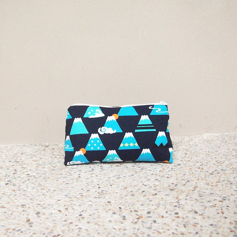 Handmade storage cosmetic bag - Mount Fuji
