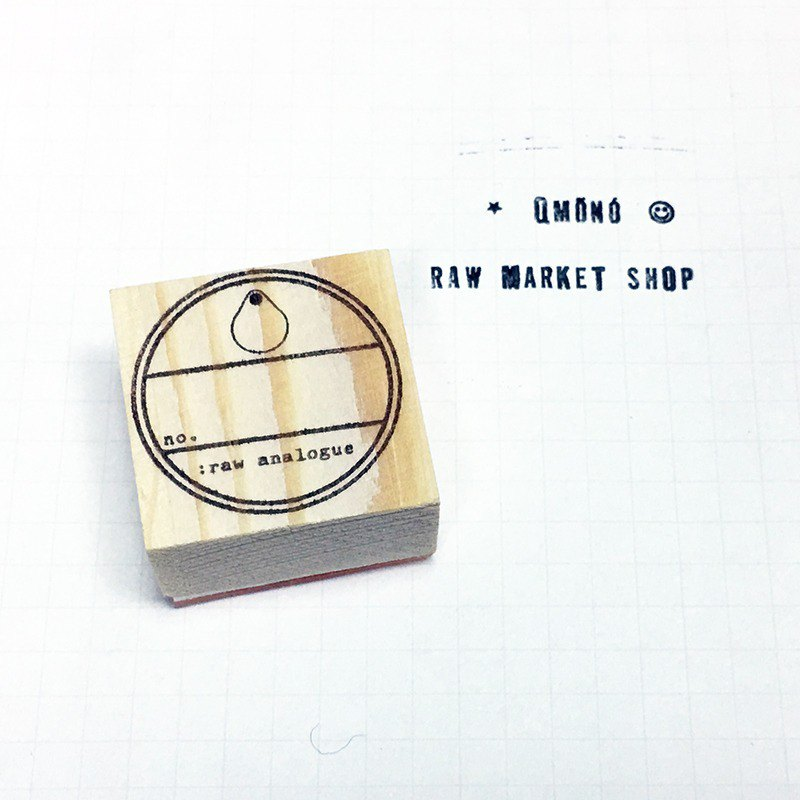 Raw Market Shop Wooden Stamp【Analogue Series No.188】
