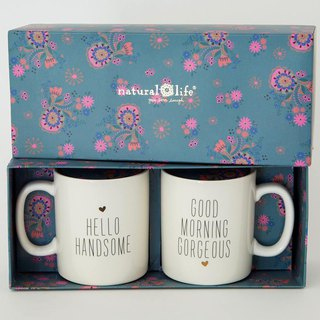 Boxed mug set 13oz- Gorgeous/Handsome.∣MUGS060