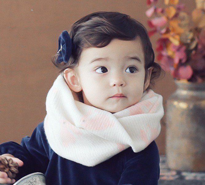 Happy Prince Elvin bunny warm baby bib scarf made in Korea