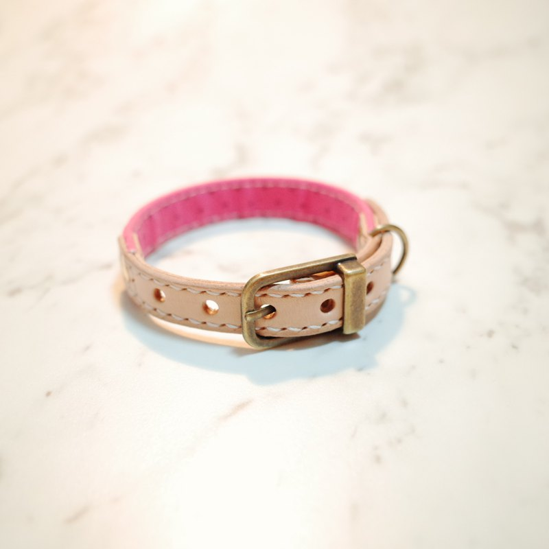Dog & Cats collars, S size, Japan fabric with Pink & + mark