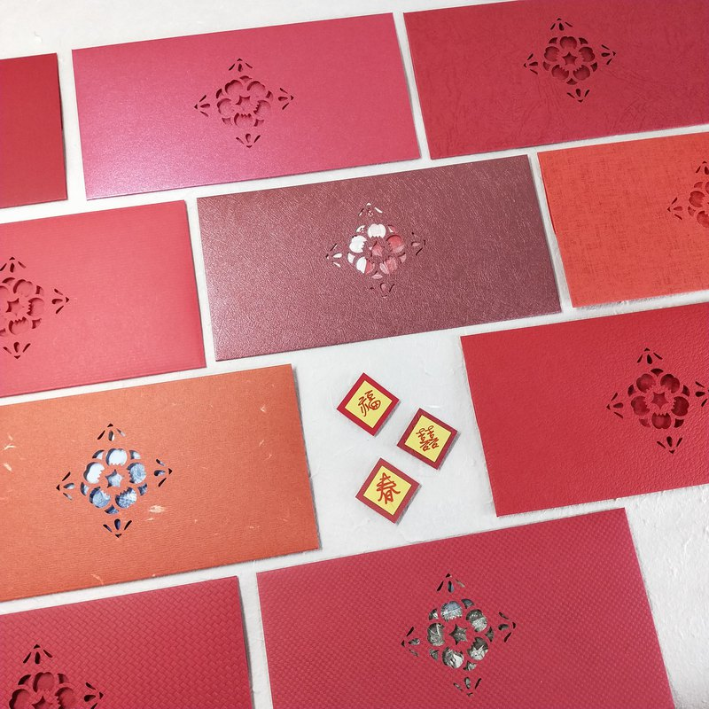 [handmade red envelope] flower open rich red bag - random three into