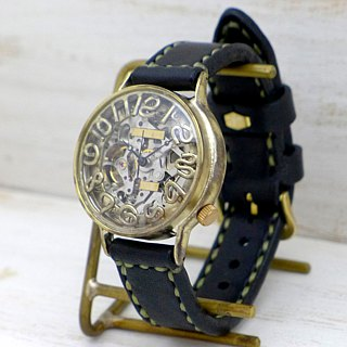 Handmade watches HandCraftWatch Automatic winding Brass Automatic Brass [BAM 022 SV / BK]
